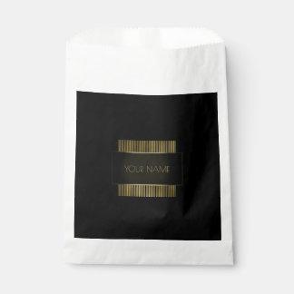 Black Gold Name Branding Minimal Conceptual Favour Bag