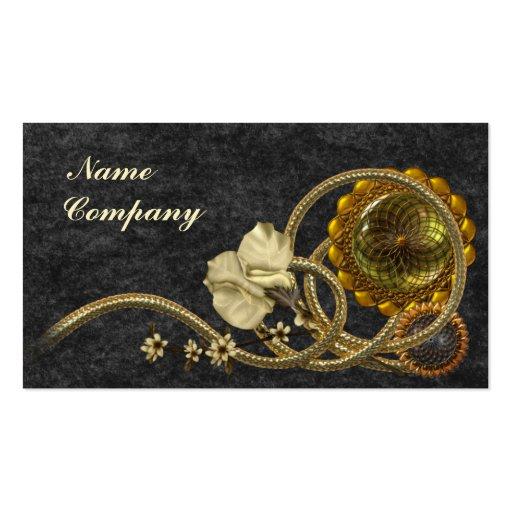 Black & Gold Nostalgia Business Cards