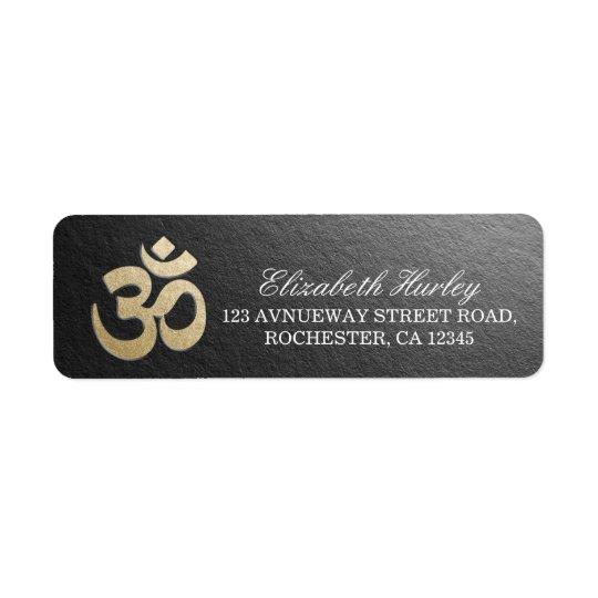 Black & Gold OM Symbol Yoga Mediation Instructor