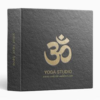 Black & Gold OM Symbol Yoga Mediation instructor Binder