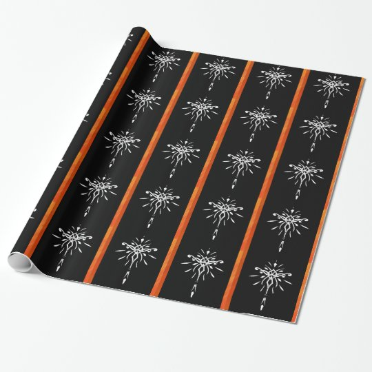 Black Gold Orange Starburst Dramatic Design