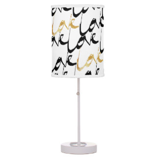 Black & Gold Paint LOVE Lamp