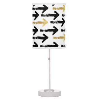 Black & Gold Painted Arrows Lamp