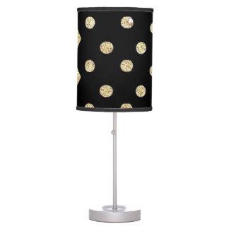 Black & Gold Polka Dot and Chevron La,p Table Lamp