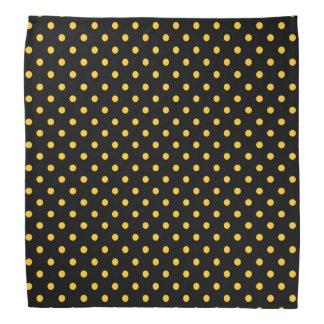 Black Gold Polka Dot Bandanna