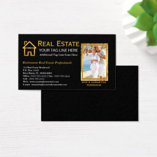Black | Gold Real Estate Mortgage Real Estate Agen Business Card