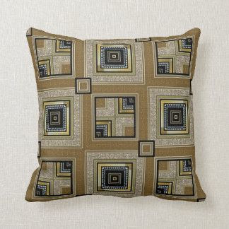 Black Gold Retro Art Deco Glam Cushion