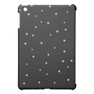 Black & gold spotted iPad case