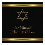 Black Gold Star of David Bar Mitzvah