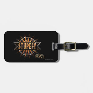 Black & Gold Stupefy Spell Graphic Bag Tag