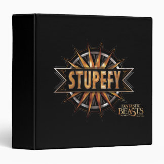 Black & Gold Stupefy Spell Graphic Binders