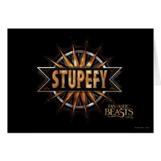 Black & Gold Stupefy Spell Graphic Card