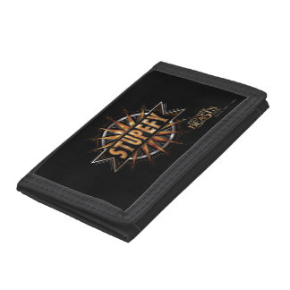 Black & Gold Stupefy Spell Graphic Tri-fold Wallet