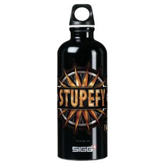 Black & Gold Stupefy Spell Graphic Water Bottle