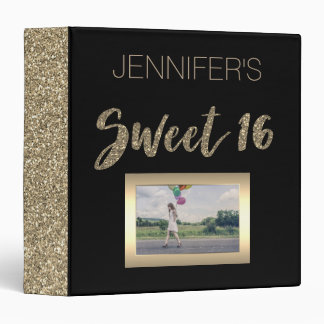 Black Gold Sweet Sixteen 3 Ring Binders