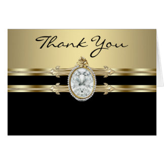 Black Gold Thank You Cards