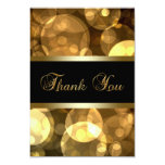 "Black Gold Thank You Cards 3.5"" X 5"" Invitation Card"