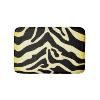 Black Gold Tiger Pattern Print Design Bathroom Mat
