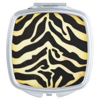 Black Gold Tiger Pattern Print Design Compact Mirror