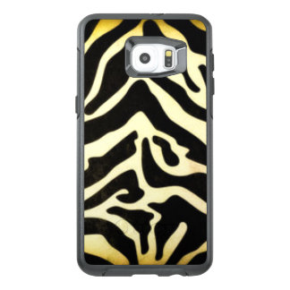 Black Gold Tiger Pattern Print Design OtterBox Samsung Galaxy S6 Edge Plus Case