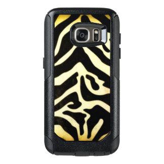 Black Gold Tiger Pattern Print Design OtterBox Samsung Galaxy S7 Case