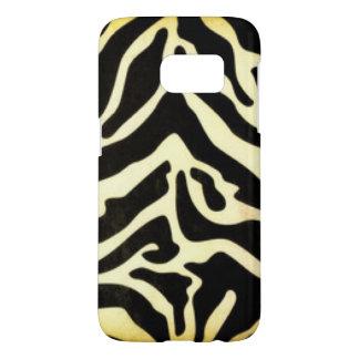 Black Gold Tiger Pattern Print Design Samsung Galaxy S7 Case