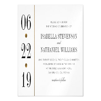 Black & Gold Typography | Custom Wedding Magnetic Card
