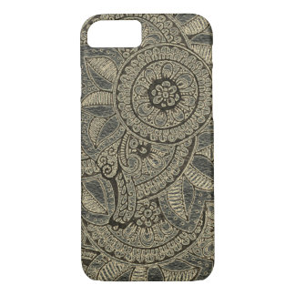 Black Gold Vintage Lace Boho Mandala Dreamcatcher iPhone 8/7 Case