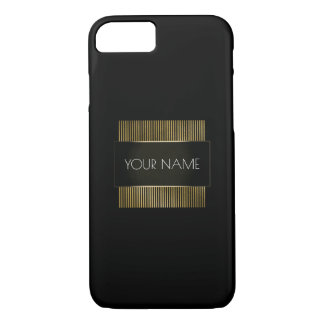 Black Gold White Conceptual Minimal Geometry iPhone 8/7 Case