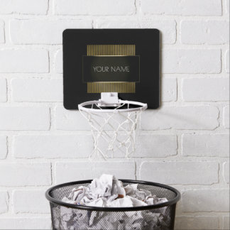 Black Gold White Conceptual Minimal Geometry Mini Basketball Hoop