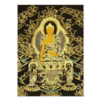 Black-Golden Buddha Poster