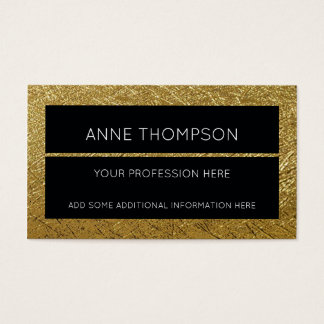 black & golden , chic & stylish , professional business card