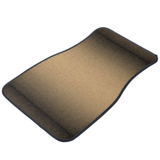Black Golden Ombre Car Floor Carpet