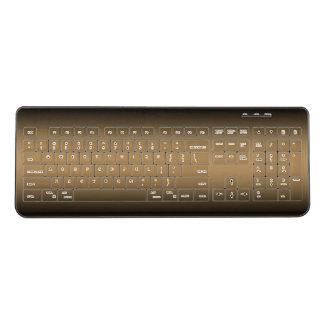 Black Golden Ombre Wireless Keyboard