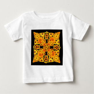 Black-Golden Sunflowers Patterned GIFTS Baby T-Shirt