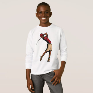 Black Golfer Boy T-Shirt