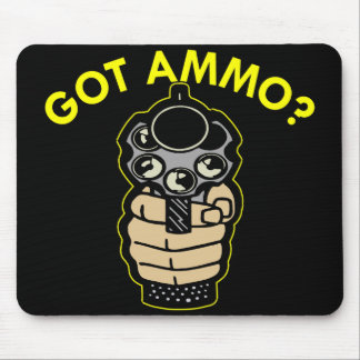 Black Got Ammo Pistol Mouse Pad