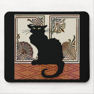 Black Gothic Cat Style Designs Mouse Pad