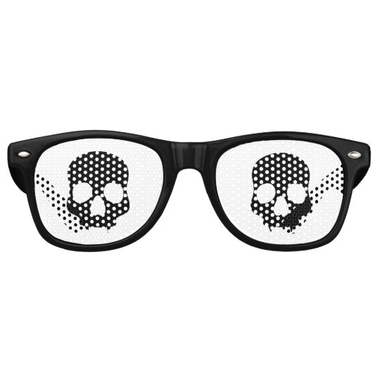 Black gothic skulls party shades