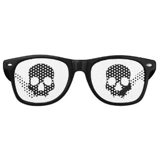 Black gothic skulls retro sunglasses