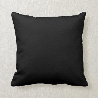 Black Grade A Cotton Throw Pillow 20x20