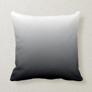 Black Gradient Throw Pillow