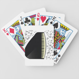 black grand piano bicycle playing cards