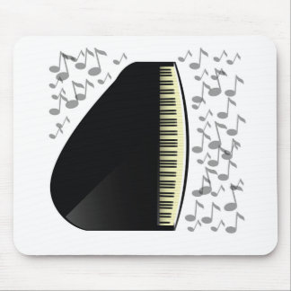black grand piano mouse pad