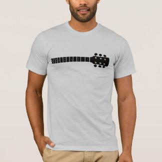 black graphic acoustic guitar neck, cool music T-Shirt