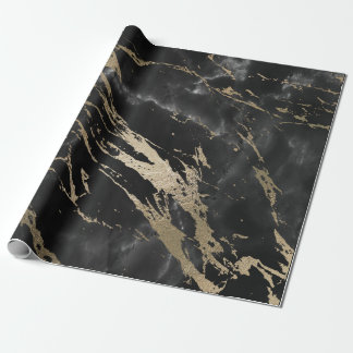 Black Graphite Deluxe Gold Marble Shiny Glam