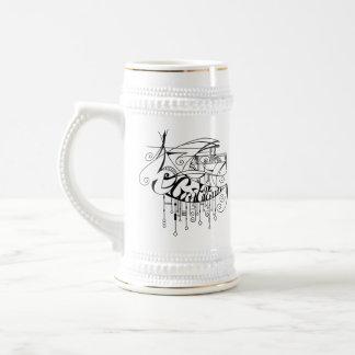 Black Gratitude In Lines and Dangles Beer Stein