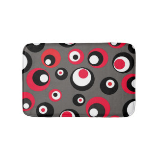 Black Gray and Red Bathroom Shower Mat