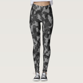 Black/Gray camouflage leggings