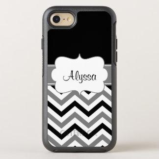 Black Gray Chevron OtterBox Symmetry iPhone 7 Case